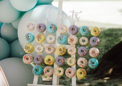 Acrylic Donut Wall for hire