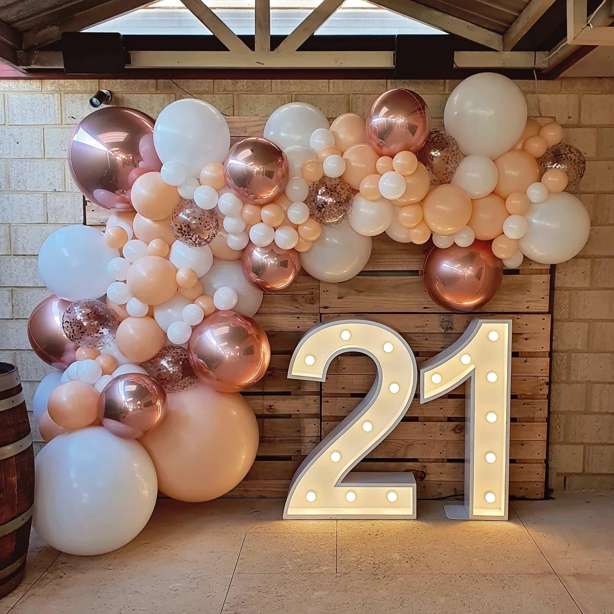 21st Birthday Party Balloon Decor